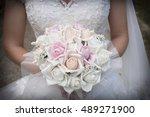 beautiful wedding bouquet in... | Shutterstock . vector #489271900
