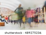 underground station. adults and ... | Shutterstock . vector #489275236