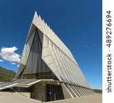 Small photo of Colorado Springs, CO, USA - July 23, 2016: Air Force Academy Chapel in Colorado Springs, Colorado.