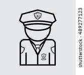 policeman vector icon. flat...