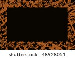 brown  abstract frame - stock photo