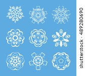 set of monogram ornate mandalas.... | Shutterstock . vector #489280690