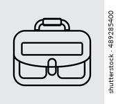 school bag vector icon for web...