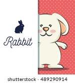 cute rabbit design | Shutterstock .eps vector #489290914