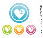 set of 4 colorful hearts signs | Shutterstock .eps vector #48929182