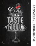 poster cafe table lettering... | Shutterstock .eps vector #489293119