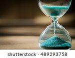sand running through the bulbs... | Shutterstock . vector #489293758