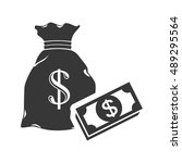 sack with money symbol | Shutterstock .eps vector #489295564
