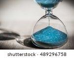 sand running through the bulbs... | Shutterstock . vector #489296758