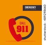 call center emergency service | Shutterstock .eps vector #489298660
