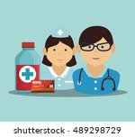 proffessional medical doctor... | Shutterstock .eps vector #489298729