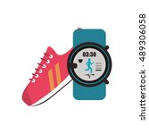sneaker and  heart rate wrist...