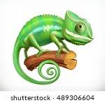 chameleon. 3d vector icon | Shutterstock .eps vector #489306604
