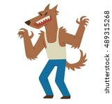 vector cartoon image of funny... | Shutterstock .eps vector #489315268