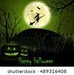 halloween spooky background | Shutterstock .eps vector #489316408