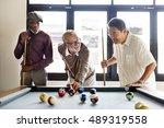 Friends Playing Billiard...