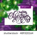 vector hand drawn christmas... | Shutterstock .eps vector #489320164
