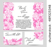 romantic invitation. wedding ... | Shutterstock . vector #489325348