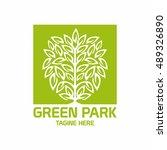 park logo  ecology  green... | Shutterstock .eps vector #489326890
