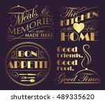 interior quote decals in golden ...   Shutterstock .eps vector #489335620