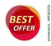 sale sticker vector... | Shutterstock .eps vector #489362026