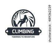 wall climbing  rock climbing ... | Shutterstock .eps vector #489362239