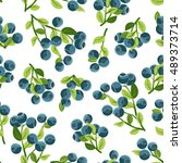 seamless pattern with branches... | Shutterstock .eps vector #489373714