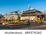 famous pier 39 at the fisherman'... | Shutterstock . vector #489374260