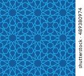 arabic seamless vector pattern. ...   Shutterstock .eps vector #489380974