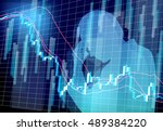 stock prices man worries | Shutterstock .eps vector #489384220