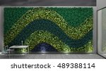 vertical garden  interior...   Shutterstock . vector #489388114