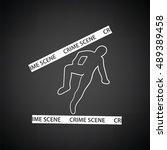 crime scene icon. black... | Shutterstock .eps vector #489389458