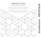 vector abstract boxes... | Shutterstock .eps vector #489393634