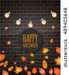 happy halloween. vector... | Shutterstock .eps vector #489403648