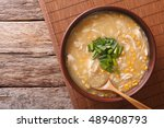 chinese corn and chicken soup... | Shutterstock . vector #489408793