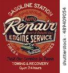 car garage repair service ... | Shutterstock .eps vector #489409054