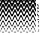 parallel wavy zigzag horizontal ... | Shutterstock .eps vector #489421060