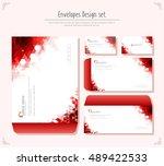 envelope design set | Shutterstock .eps vector #489422533