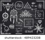 chalkboard hand drawn sketch... | Shutterstock .eps vector #489423208