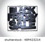 black friday sale design  super ... | Shutterstock .eps vector #489423214