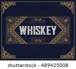 old whiskey label | Shutterstock .eps vector #489425008