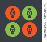 smart watch icons settings with ...