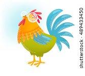 vector illustration of a... | Shutterstock .eps vector #489433450