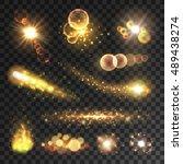 Golden Sparkling Light Trails....