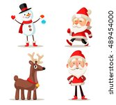 Set Of Christmas Characters....