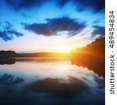 Majestic Sunrise Over The Lake...