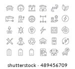 set vector line icons with open ... | Shutterstock .eps vector #489456709