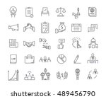 set vector line icons with open ... | Shutterstock .eps vector #489456790