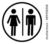 toilets vector icon | Shutterstock .eps vector #489458308