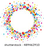 paper round white background... | Shutterstock .eps vector #489462910